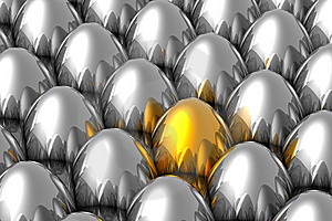 Unique Golden Egg Royalty Free Stock Photography - Image: 8281967