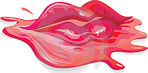 The Lips In A Pool Royalty Free Stock Images - Image: 8282459