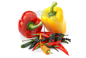 Paprika And Pepper. Stock Image - Image: 8282721