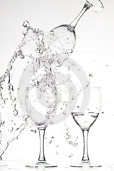 Glasses With Water Royalty Free Stock Image - Image: 8283076