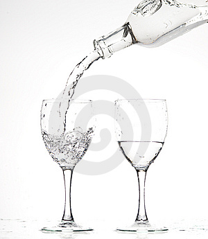 Glasses With Water Stock Photography - Image: 8283282