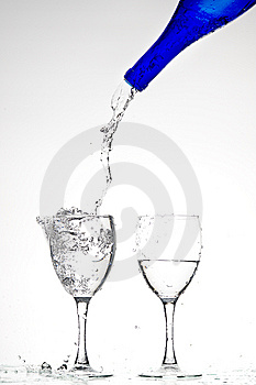 Glasses With Water Stock Image - Image: 8283311