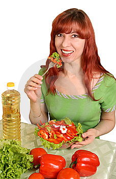 Dietary Salad Royalty Free Stock Images - Image: 8283529