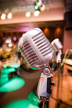 Close-up Of Vintage Microphone Stock Photos - Image: 8283753