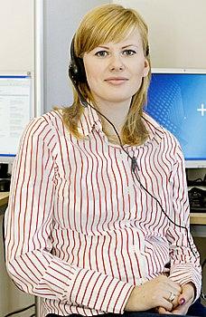 Girl Wearing Headset Stock Images - Image: 8283914