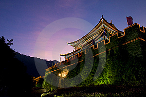 Ancient City Night Scene Stock Images - Image: 8284644