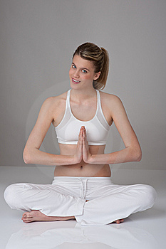 Fitness – Young Woman In Yoga Position  Stock Images - Image: 8284854