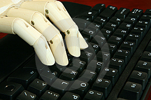 Typing On The Keyboard Royalty Free Stock Photo - Image: 8285665
