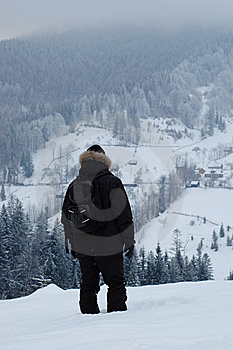 Traveler In The Mountains Royalty Free Stock Photo - Image: 8285745