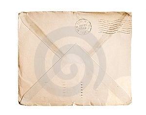 Vintage Yellowed Envelope Stock Photos - Image: 8286883