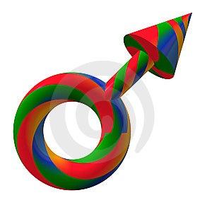 Männliches Symbol Lizenzfreie Stockfotografie - Bild: 8287697