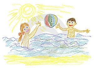 Juego Con La Bola Imagen de archivo - Imagen: 8288011