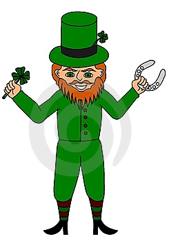 Lucky Leprechaun Stock Photo - Image: 8288230
