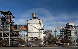 Section Of An Oil Refinery Royalty Free Stock Photo - Image: 8288235