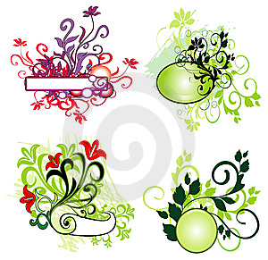 Floral Element For Design Royalty Free Stock Images - Image: 8288409