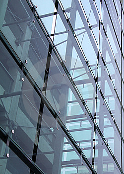 Glass And Concrete Construction With Reflections Royalty Free Stock Images - Image: 8288439