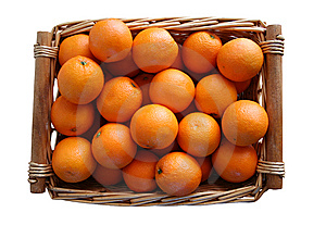 Basket Of Oranges Royalty Free Stock Image - Image: 8288706