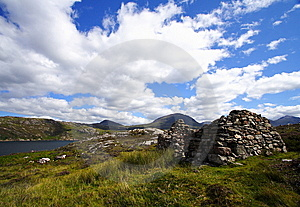 Landscape And Ruins In The Highlands Royalty Free Stock Images - Image: 8288789
