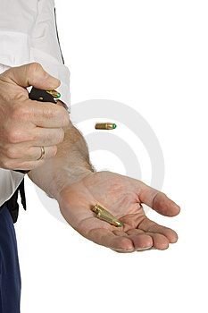 Clicking Bullets Out Of The Holder Royalty Free Stock Image - Image: 8289246