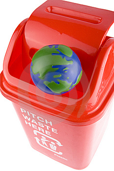 Recycling With Globe Royalty Free Stock Photos - Image: 8291568