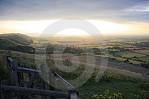 Devils Dyke Sunset Royalty Free Stock Image - Image: 8291636
