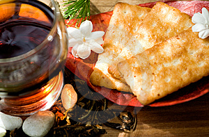Tea And Snack Stock Image - Image: 8292111
