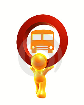 Bus Station Icon Symbol Stock Image - Image: 8293231
