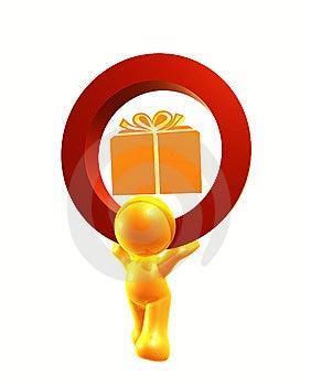 Gift Icon Symbol Stock Photo - Image: 8293270