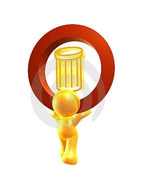 Papierkorbikonensymbol Stockbilder - Bild: 8293284
