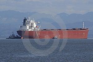 Frachtschiff-Ankommen Lizenzfreies Stockfoto - Bild: 8293425