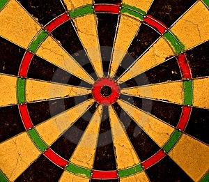 Dart Board Bulls Eye Royalty Free Stock Photo - Image: 8293775