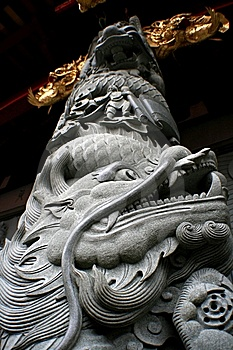 Dragon Column Royalty Free Stock Photography - Image: 8293987