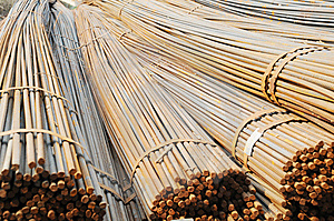 The Converging Steel Rods Royalty Free Stock Photo - Image: 8294215