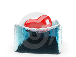 The Heart Is Melting The Ice Stock Photo - Image: 8297200