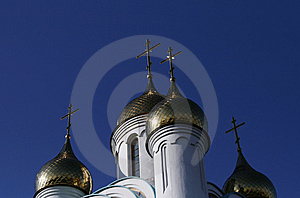 Gold Cupola Stock Image - Image: 8297581