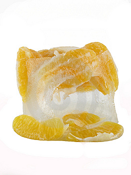 Frozen Orange Royalty Free Stock Photos - Image: 8297938