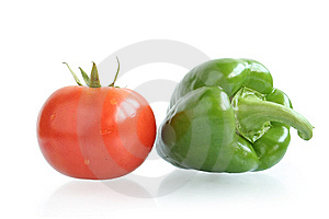 Fresh Tomato And Pepper Stock Photography - Image: 8298042