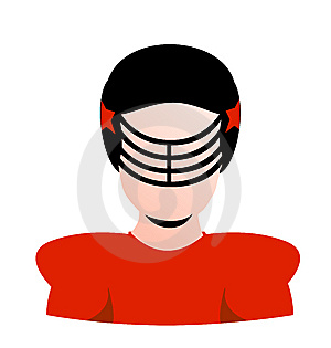Vector Football Player Blank Avatar Stock Photography - Image: 8298302