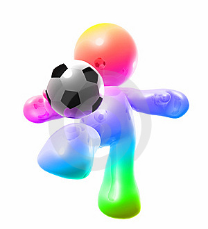 Colorful Soccer Guy Royalty Free Stock Image - Image: 8298646
