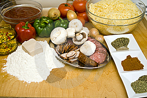 Cooking Pizza Royalty Free Stock Photography - Image: 8298797