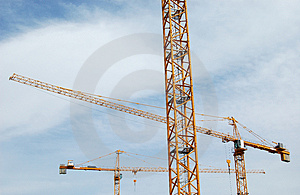 Three Big Cranes Stock Photos - Image: 832933