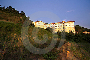 Hill Side Apartments Royalty Free Stock Photos - Image: 834858