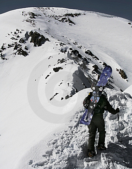 Snowboard Mountaineer Royalty Free Stock Photos - Image: 839878