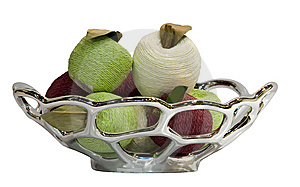 The Siver Fruit Plate Stock Images - Image: 8300664