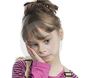 Sad Girl Royalty Free Stock Image - Image: 8301596