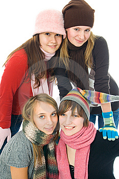 Four Attractive Girls Royalty Free Stock Photography - Image: 8302297