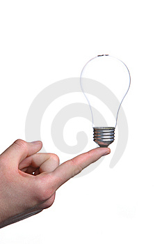 Person Holding A Green Light Bulb Stock Photos - Image: 8302583
