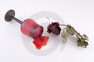 Wine With Rose Stock Photos - Image: 8302863