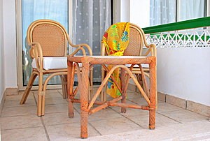 Terrace With Arm-chairs Royalty Free Stock Photography - Image: 8304077