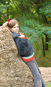 Lovely Teen Girl Outdoor Royalty Free Stock Image - Image: 8304216